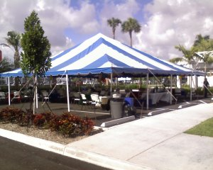 Tent awaiting celebration